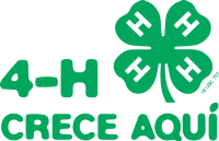4-H Grows Here logo in Spanish; 4-H Crece Aqui