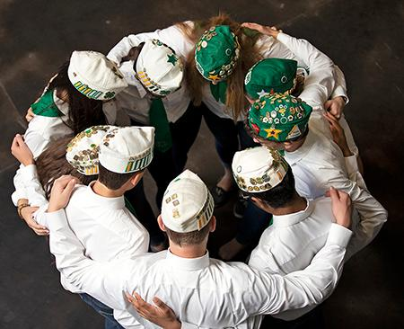 White and green hats of State Ambassadors