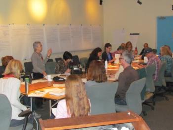 Los Angeles Food Policy Council members plan an upcoming urban agriculture initiative