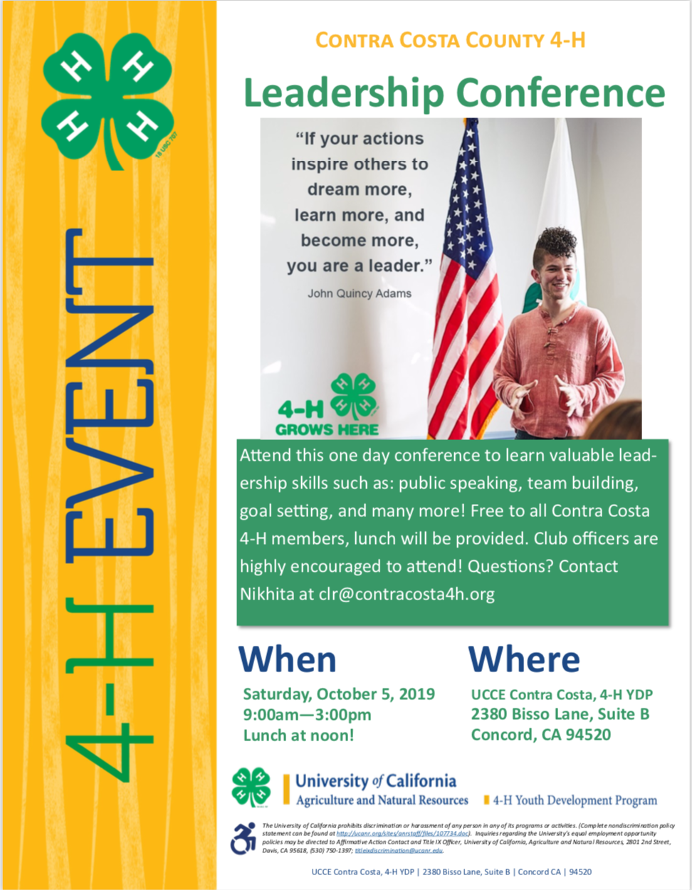 4-H Leadership Conference