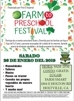 picture of spanish farm to preschool flyer