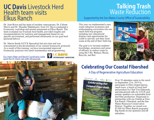 UC Elkus Ranch Annual Report 2019_Page 4