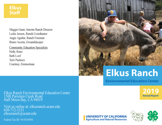 UC Elkus Ranch Annual Report 2019_Page 1