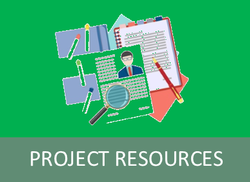 Project Resources Button Website Page Link