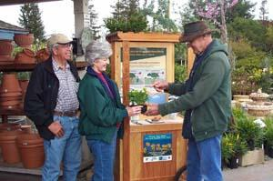 IPM help from a UC Master Gardener at a local nursery