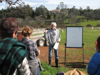 Roger teaching Grazing