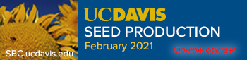 UC Davis Seed Production course ON-LINE in February 2021