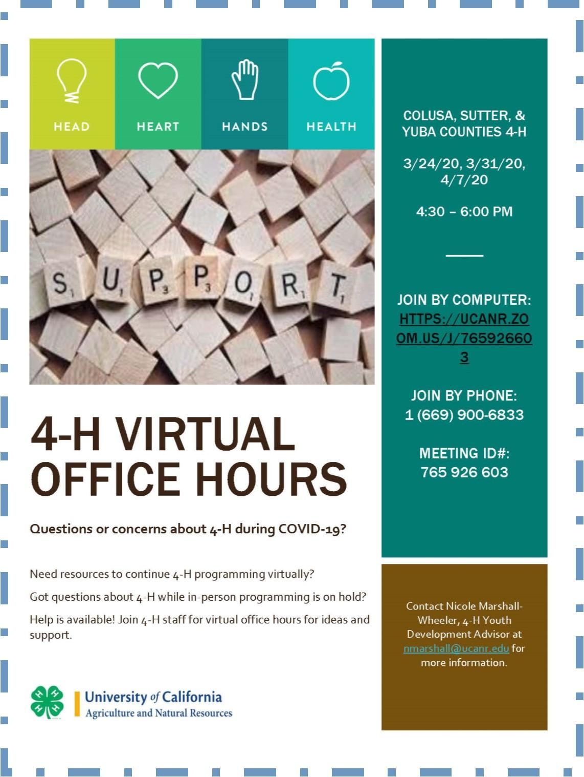 Virtual Office Hours Flyer 1