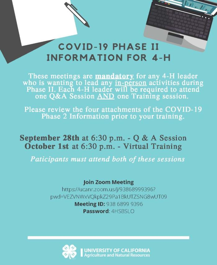 Covid-19 phase II Q&A and training sessions (4)