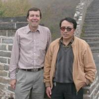 Gao and Frank at the Great Wall.