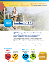 This image of UCCE forestry advisor Susie Kocher is one of four choices for the ANR one-pager.