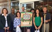 From left, Lorna Krkich, Greg Gibbs, Maria Fernandez, Kelly Scott, Emily Delk, Mary Ciricillo and Scott Brayton stopped by Tractor Supply in Dixon to buy 4-H Paper Clovers.