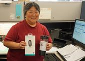 Joyce Hatanaka, a payroll services team leader in the UC ANR Business Operations Center at Kearney, won the Maintain Don't Gain Challenge completion prize.