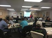 Maria Alfaro, UC IPM pesticide safety education trainer, leads a train the trainer workshop.
