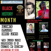 UC ANR's Black History Month celebrations begin Feb. 3 at 2 p.m.