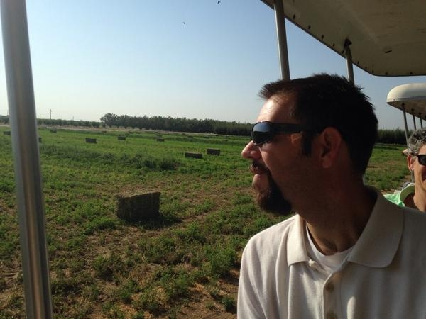Chris McDonald took in a field tour during the 2014 programmatic orientation.