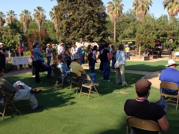Programmatic Orientation participants tour Garden of the Sun in 2014.