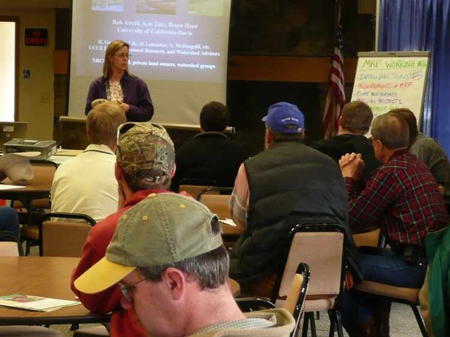 George brought together ranchers to discuss the impacts of livestock grazing.