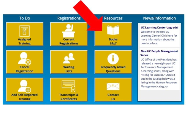 Books24x7 can be accessed through the UC Learning Centers.