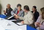 Humiston and Vallodolid Seamanduras sign MOU to offer 4-H expertise to children in Mexico.