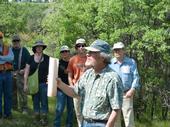 Doug McCreary speaking at an oak regeneration field day. Photo by Rick Standiford.