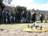 Sean Hogan, IGIS academic coordinator, gives instructions at drone camp.