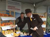 Assemblymember Matthew Harper checks out the citrus varieties.