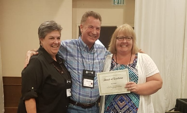 From left, VP Glenda Humiston, Dan Munk and AVP Wendy Powers attended the Western Extension Directors Association meeting in Guam.