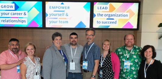 Participants of UC Conference 2018 from left: Ricardo Vela, Jaci Westbrook, Glenda Humiston, Javier Miramontes, Leah Sourbeer, Russell Hill, Maria Fernandez.