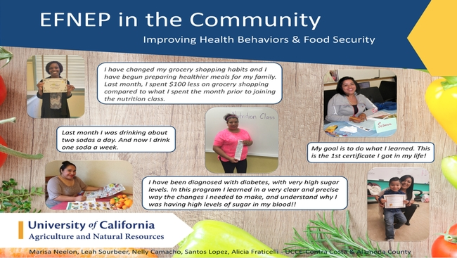 UCCE Contra Costa shared quotes from participants whose lives were improved by applying EFNEP lessons.