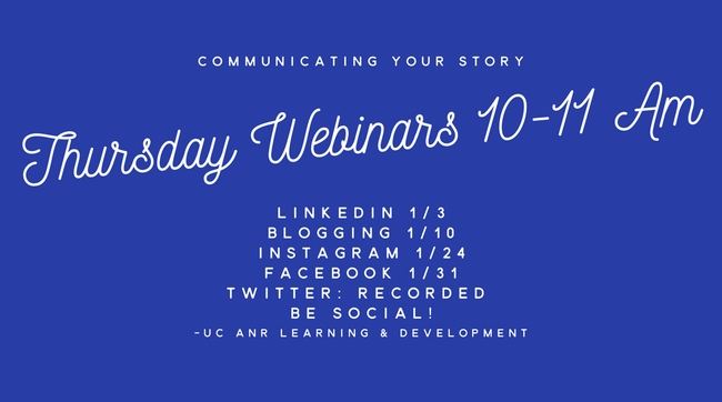 Communicating story webinars