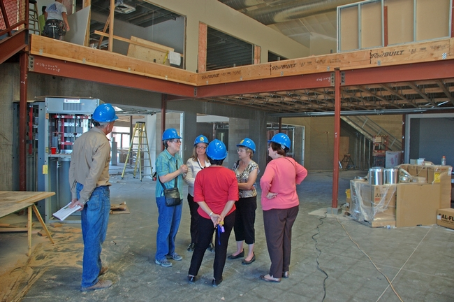 Jan Corlett and Shawn Tibor toured the renovated ANR building on Second Street with Sherrell-Cline Richmond, Connie Schneider, Joyce Strand and Susan Donohue to discuss plans for shared storage and work space in July 2013