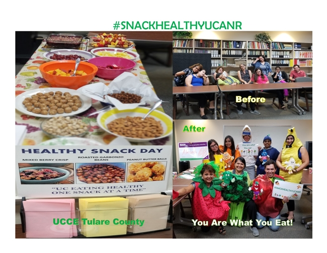 The winner of the 2018 Healthy Snack Day photo contest was submitted by UCCE Tulare County.