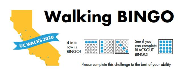 UC Walks bingo