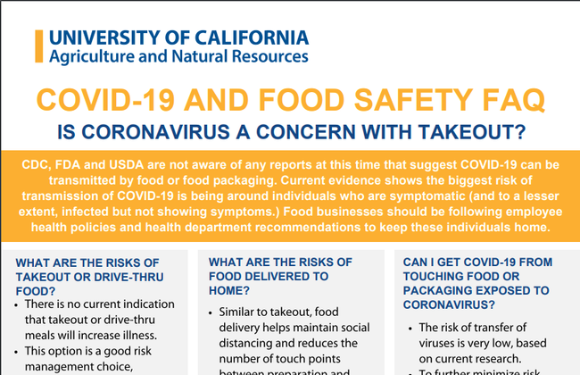 Fact sheets, like this food safety handout by Erin DiCaprio, can be printed and shared.