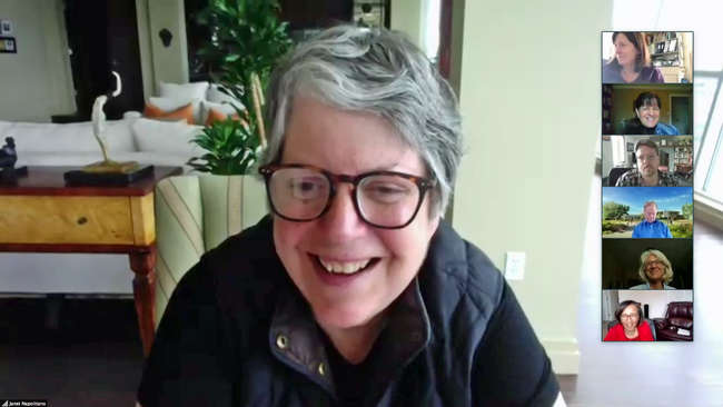 President Napolitano met with the PAC via Zoom to thank the members for time and advice during her seven years as UC president..