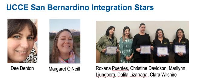The UCCE San Bernardino Program Integration Stars integrated Master Gardener, Master Food Preserver and EFNEP into a program in five schools to make a bigger impact.