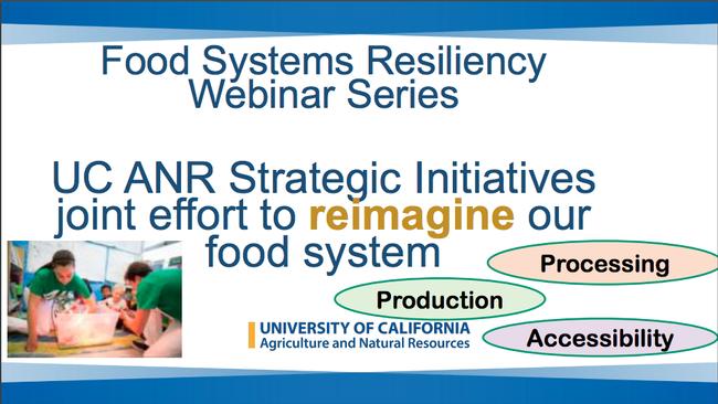 Food systems webinar series