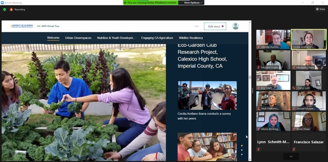 Cece Arellano Ibarra described how Chris Wong, CalFresh Healthy Living, UC community education specialist, encouraged her and her classmates to improve the accessibility of healthful food at their high school.