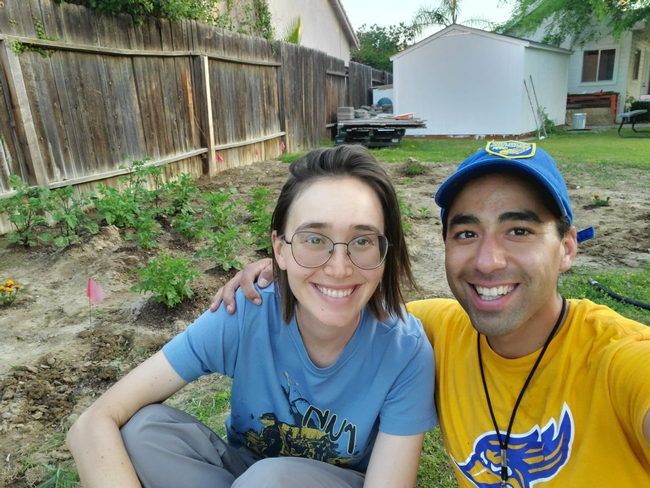 Shulamit Shroder and her partner planted tomatoes, peppers, beans and zucchini.