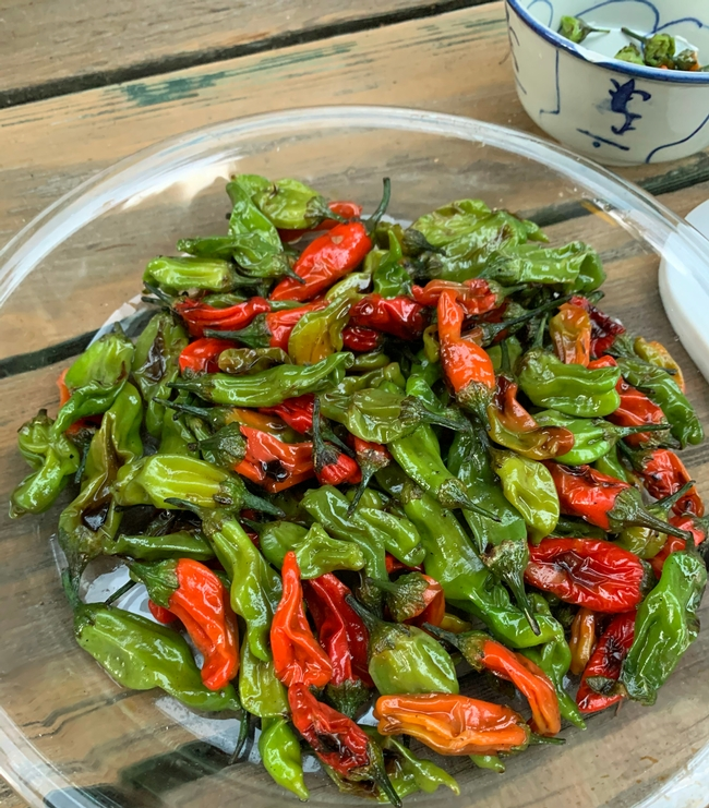 Ryan Keiffer harvested a bounty of shishito peppers.