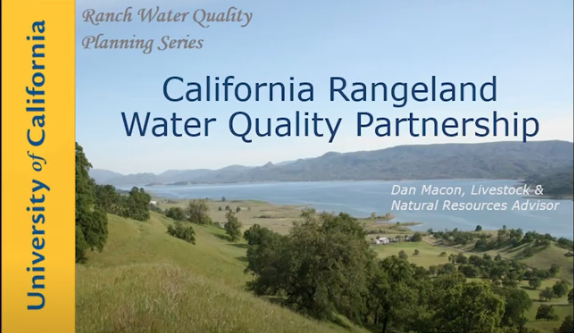 Ranch Water Quality Planning Instructor's Guide and Lesson Plan