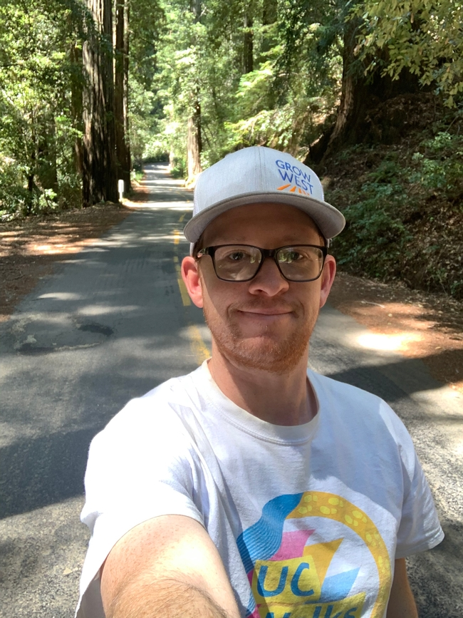 Ryan Keiffer won a nature photo award for this selfie taken at Mailliard Redwoods State Natural Reserve.
