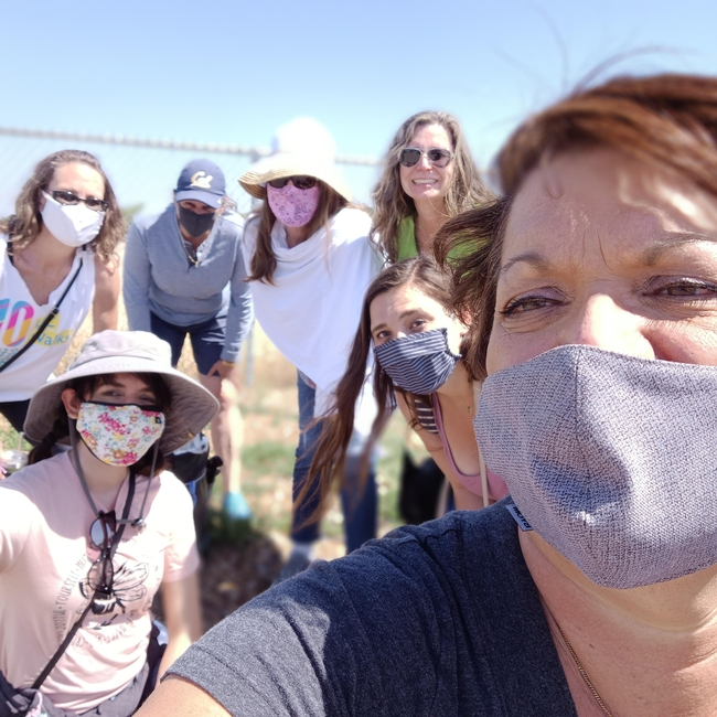 Susan Weaver also won a fashion photo award for her UC ANR Walks team shot at Martial Cottle Park.