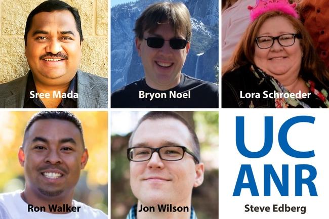Headshots of Sree Mada, Ron Walker, Jon Wilson, Lora Schroeder and Bryon Noel. Steve Edberg isn't picture, just his name appears.