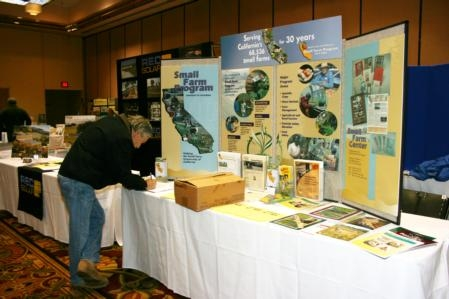 Scholarships Available For The California Small Farm Conference - Conference table displays