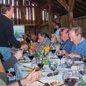 Bringing in visitors for a dinner in a barn is one form of agritourism.