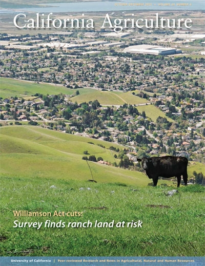 <em>California Agriculture</em> journal, October-December 2012 issue