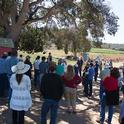 At an organic farm near Watsonville, growers and food safety professionals discuss designing practices that manage for food safety and environmental quality.