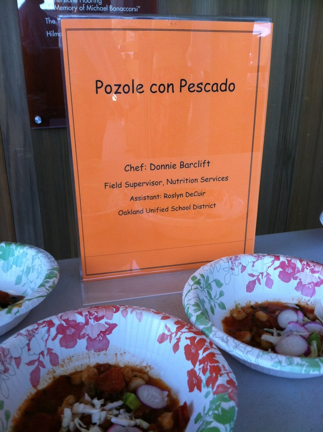 paper bowls filled with tomato red pozole